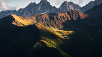 Sunset mountains landscapes nature austria national geographic alps wallpaper