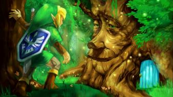 Trees forest link gameboy the legend of zelda wallpaper