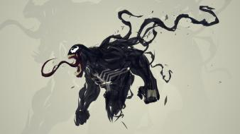Venom spider-man digital art artwork marvel comics wallpaper