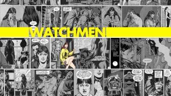 Watchmen comics silk spectre selective coloring girls wallpaper