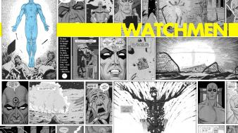 Watchmen comics superheroes selective coloring dr. manhattan wallpaper