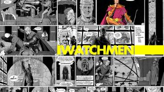 Watchmen comics superheroes selective coloring ozymandias adrian veidt wallpaper