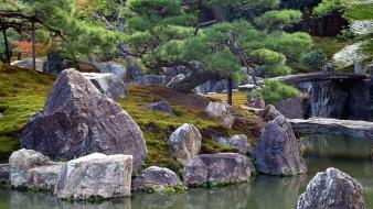 Water japan nature rocks wallpaper