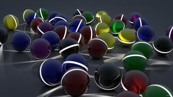 Abstract multicolor balls presents digital art 3d wallpaper
