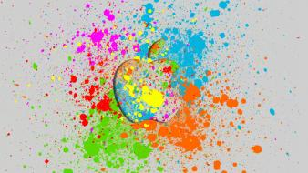 Abstract multicolor iphone macintosh colors world life apple wallpaper