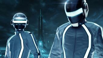 Abstract video games daft punk tron legacy cities Wallpaper