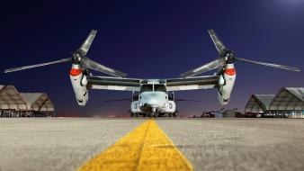 Aircraft night airports v-22 osprey wallpaper