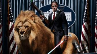 Barack obama lions wallpaper