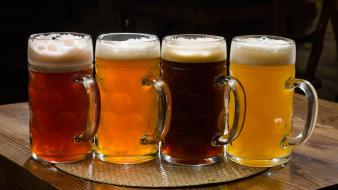 Beers glass alcohol mug Wallpaper