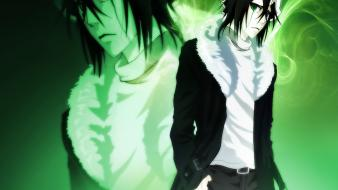 Bleach green eyes espada fur coat ulquiorra cifer wallpaper
