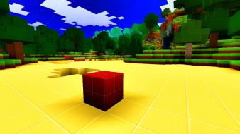 Blocks shadows minecraft cubes squares simplicity shaders glsl wallpaper