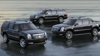 Cadillac suv pickup trucks black escalade ext Wallpaper
