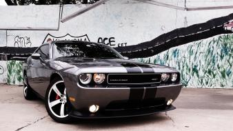 Cars parking dodge challenger srt front view wallpaper