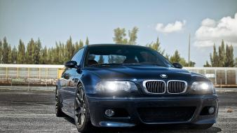 Cars parking headlights bmw m3 e46 wallpaper