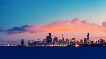 Chicago cities skies wallpaper