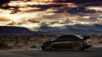 Clouds landscapes cars vehicles Wallpaper
