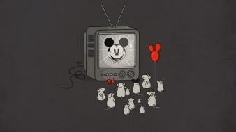 Disney company minimalistic mickey mouse television mice wallpaper