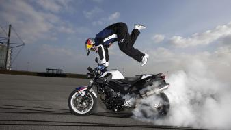Extreme sports motorcycles widescreen stunts Wallpaper