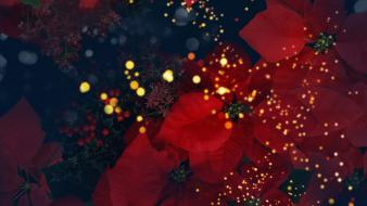 Flowers shapes artwork dots Wallpaper
