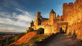 France medieval carcassonne wallpaper