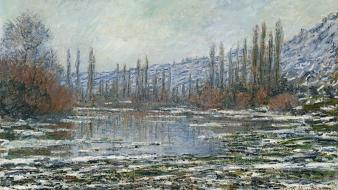 French lakes traditional art claude monet impressionism wallpaper