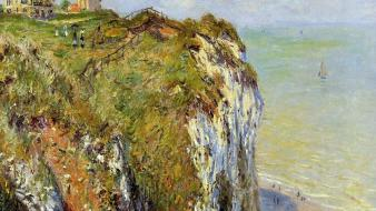 French traditional art claude monet impressionism sea wallpaper