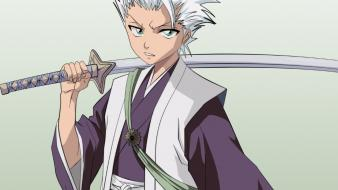 Hitsugaya toshiro white hair simple background swords wallpaper