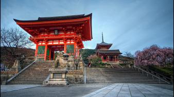Japan trees asia statues temple david panevin Wallpaper