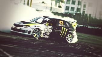 Ken block burnout subaru impreza wrx drift wallpaper