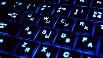 Keyboards glowing computer technology illuminated keys wallpaper