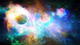 Light stars planets galaxy wallpaper