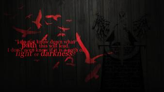 Light text darkness vindictus statues crows angel Wallpaper