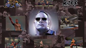 Men wrestling the rock faces wrestlers wallpaper