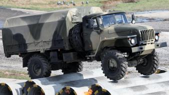 Military trucks ural russian Wallpaper