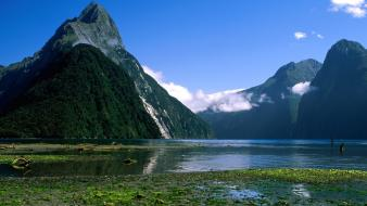 Nature peak sound new zealand wallpaper