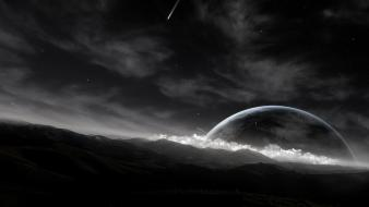 Outer space digital art wallpaper