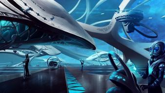 Outer space endless science fiction aliens game wallpaper