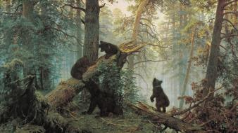 Paintings bears ivan shishkin Wallpaper