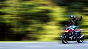 People roads motorbikes movement speed wallpaper