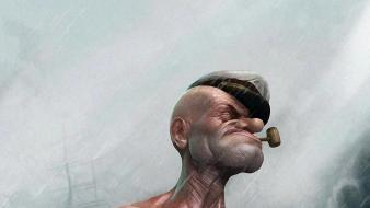 Rain popeye wallpaper