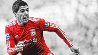 Selective coloring premier league cutout luis suarez wallpaper