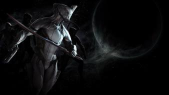 Space guns moon swords pace teaser warframe wallpaper