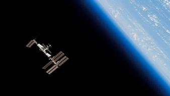 Station iss orbit planet earth space wallpaper