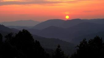 Sunrise nature point national park great smoky mountains wallpaper
