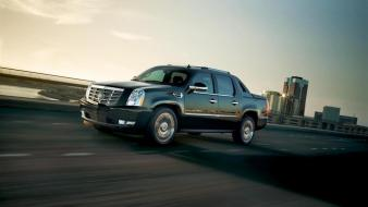 Suv pickup trucks black cadillac escalade ext Wallpaper