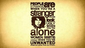 The doors typography lyrics jim morrison Wallpaper
