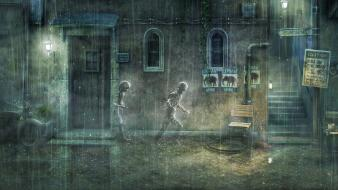 Video games rain playstation 3 ps3 (video game) wallpaper