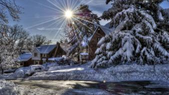 Winter sun hdr photography Wallpaper