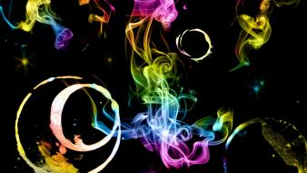 Abstract multicolor smoke rainbows digital art wallpaper