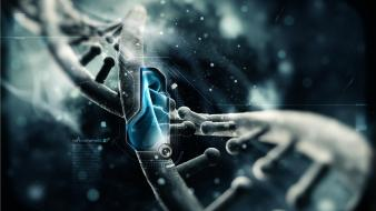 Blue gray macro dna particles genes wallpaper